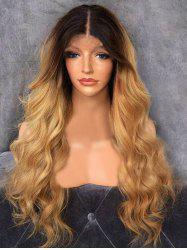 Long Middle Part Capless Ombre Wavy Synthetic Wig -