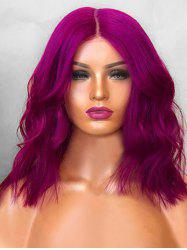 Medium Center Parting Natural Wavy Cosplay Synthetic Wig -