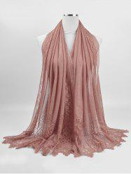Floral Lace Soften Long Scarf -