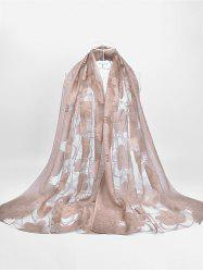 Vintage Rose Lace Spring Fall Scarf -