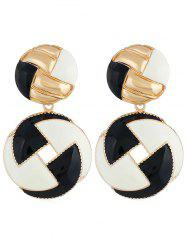 Multicolor Rounded Alloy Drop Earrings -