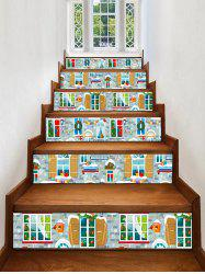 Christmas Home Pattern Decorative Stair Stickers -