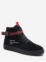 High Top Lace Up Suede Sneakers -