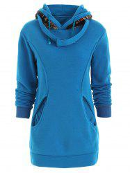 Korean Thicken Solid Color Thicken Hooded Long Sleeves Women's Hoody -