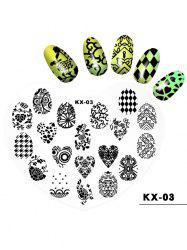 Beauty Nail Art Love Heart Shaped Plastic Nail Painting Pad -