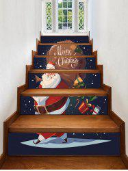 Christmas Santa Claus Pattern Decorative Stair Stickers -