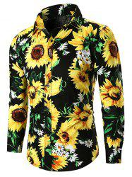 Sunflower Print Casual Shirt -
