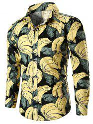 Banana Print Long Sleeve Shirt -