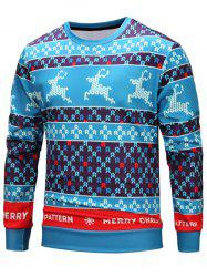 Deer Seamless Pattern Christmas Loose Sweatshirt -
