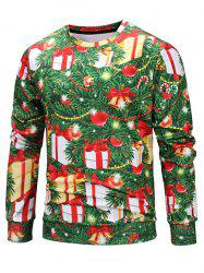 Decorative Christmas Tree Print Elastic Sweatshirt -
