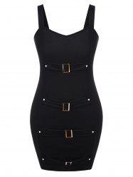 Plus Size Front Buckle Halloween Dress -