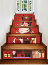 Christmas Santa Claus Gifts Pattern Decorative Stair Stickers -