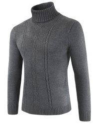 Turtle Neck Whole Colored Sweater -