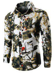 Long Sleeve Ink Painting Shirt -