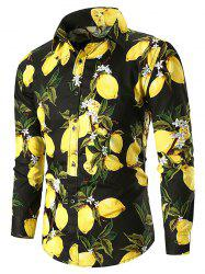 Button Up Lemon Print Casual Shirt -