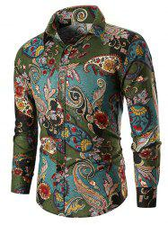 Ethnic Paisley Print Long Sleeve Shirt -