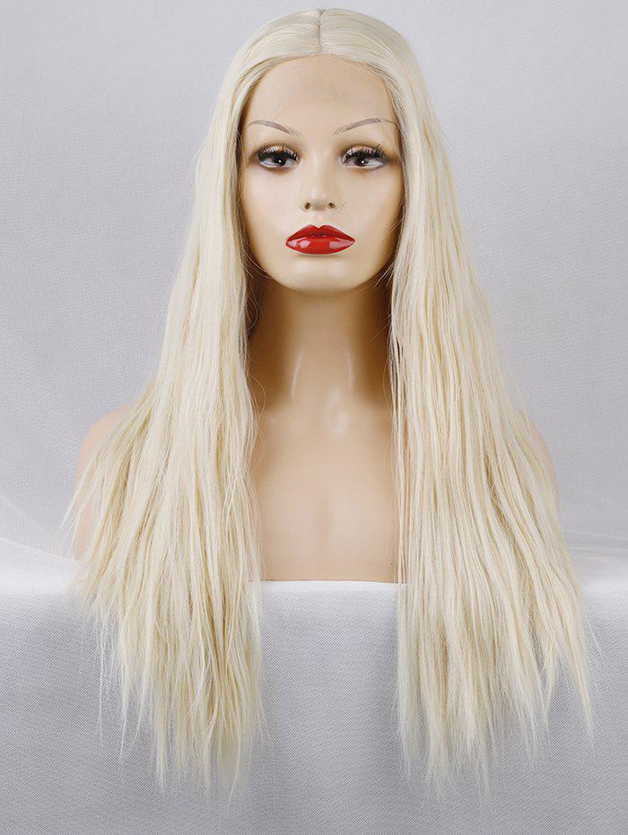 New Long Center Parting Straight Lace Front Synthetic Wig