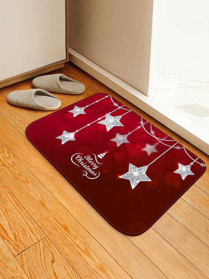 Latest Christmas Star Hanging Print Non-slip Area Rug