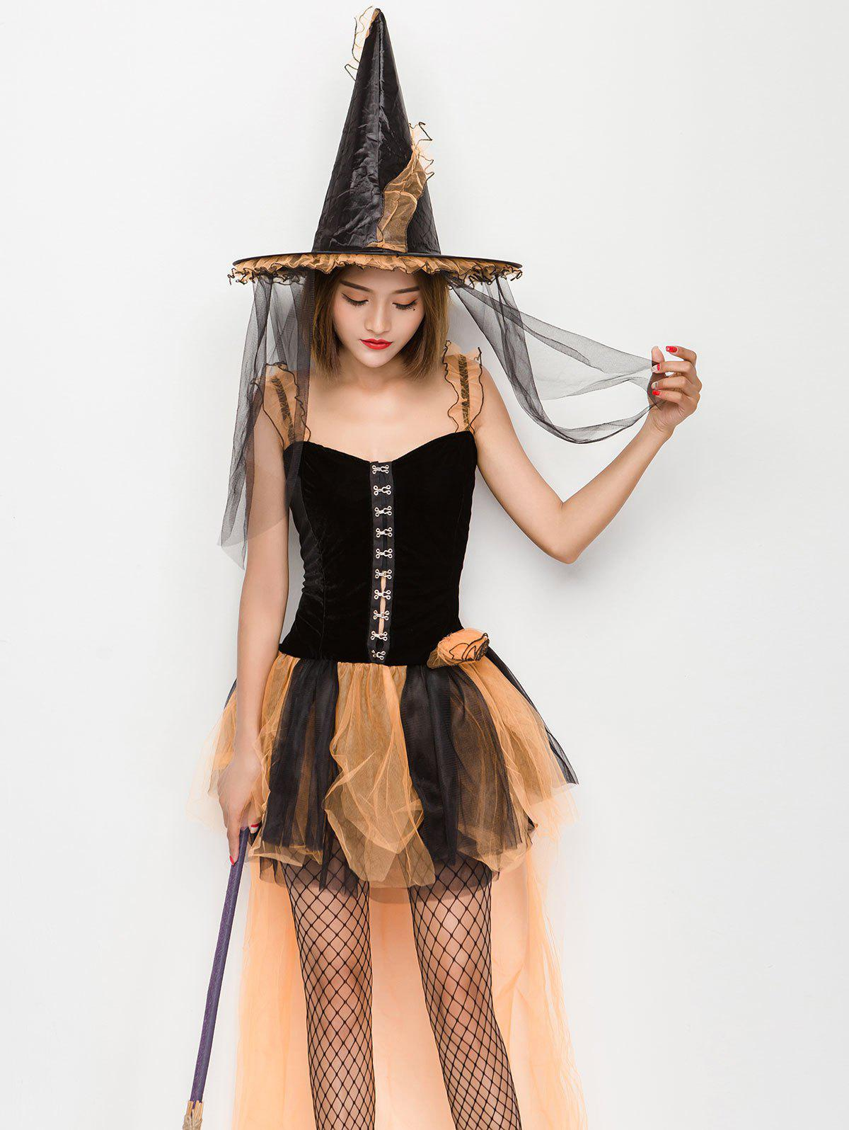 Cheap Halloween Sleeveless High Low Corset Dress