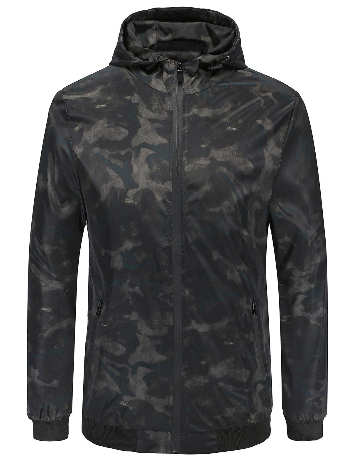 Shops Sun-proof Camo Print Hoodie Jacket
