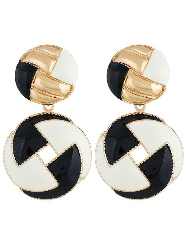Outfits Multicolor Rounded Alloy Drop Earrings