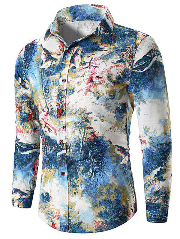 Outfit Paint Forest Long Sleeve Shirt