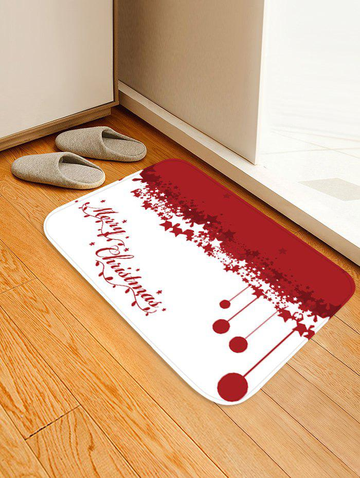Chic Christmas Stars Ball Pattern Water Absorption Area Rug