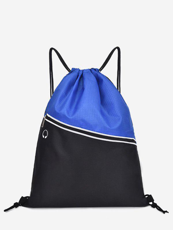 Best Color Block Casual String Backpack