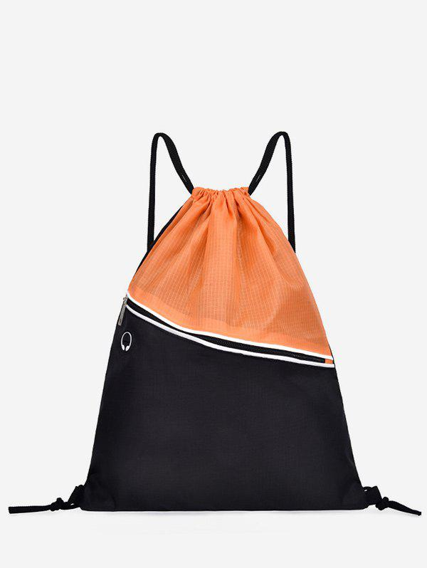 Outfits Color Block Casual String Backpack