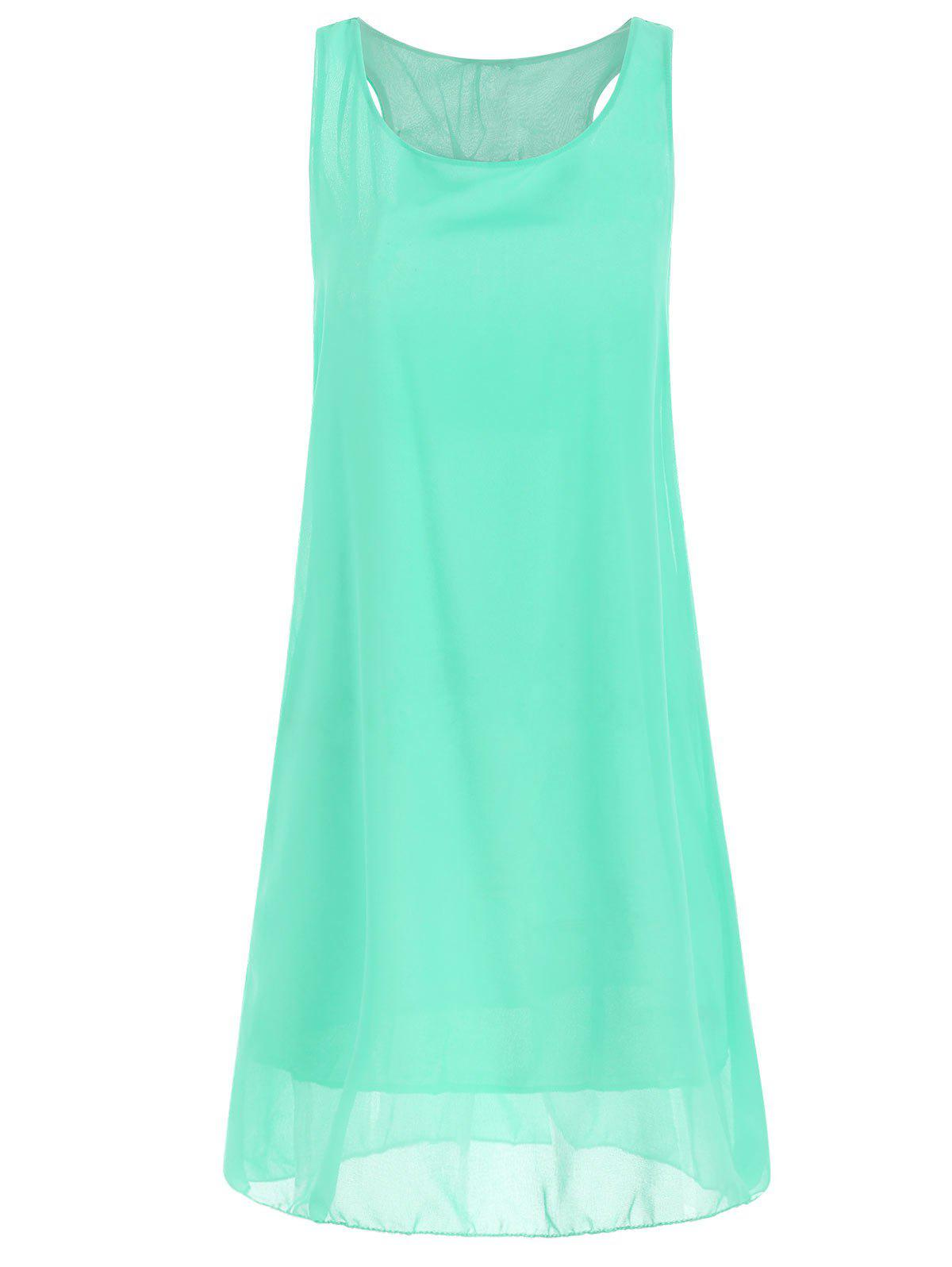 Trendy Bowknot Chiffon Shift Tank Dress