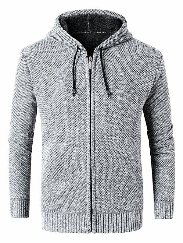 Latest Casual Drawstring Knitted Sweater Jacket
