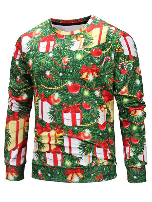 Discount Decorative Christmas Tree Print Elastic Sweatshirt