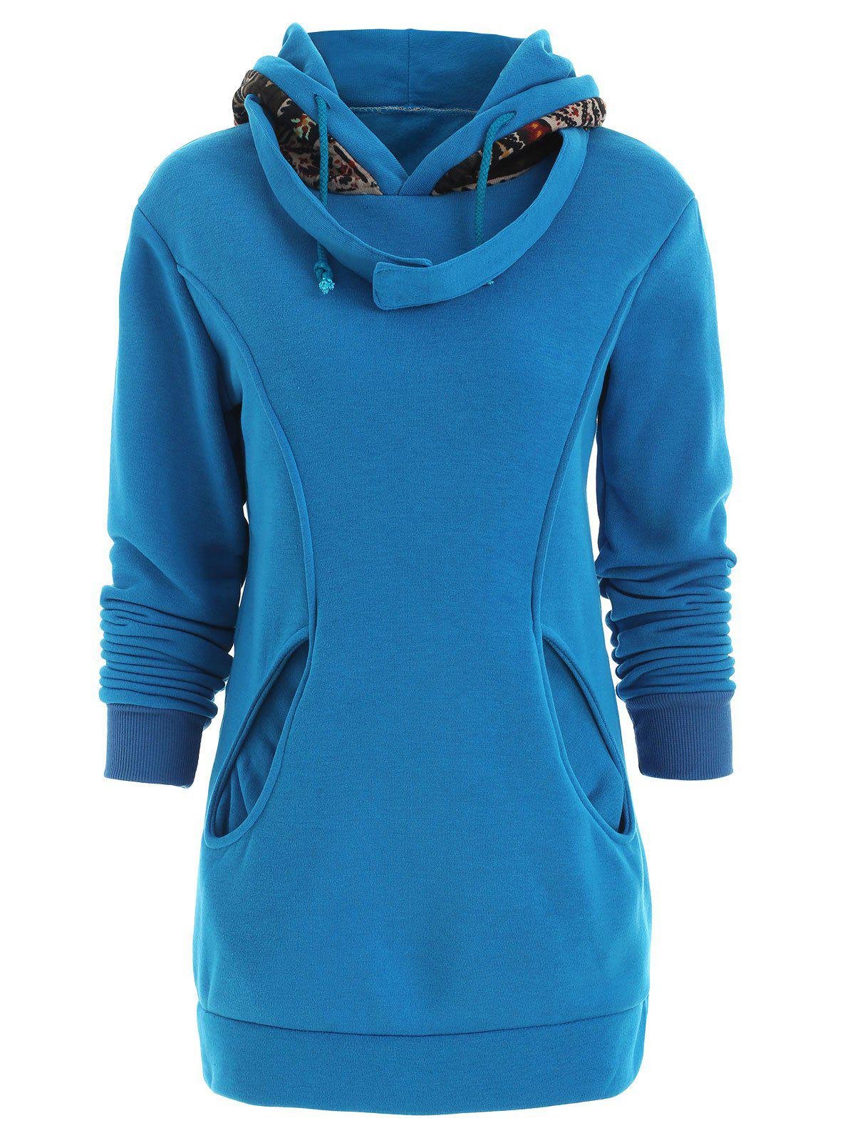 Discount Korean Thicken Solid Color Thicken Hooded Long Sleeves Women's Hoody