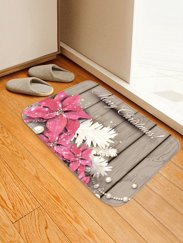 Outfits Christmas Flowers Wood Grain Pattern Water Absorption Area Rug