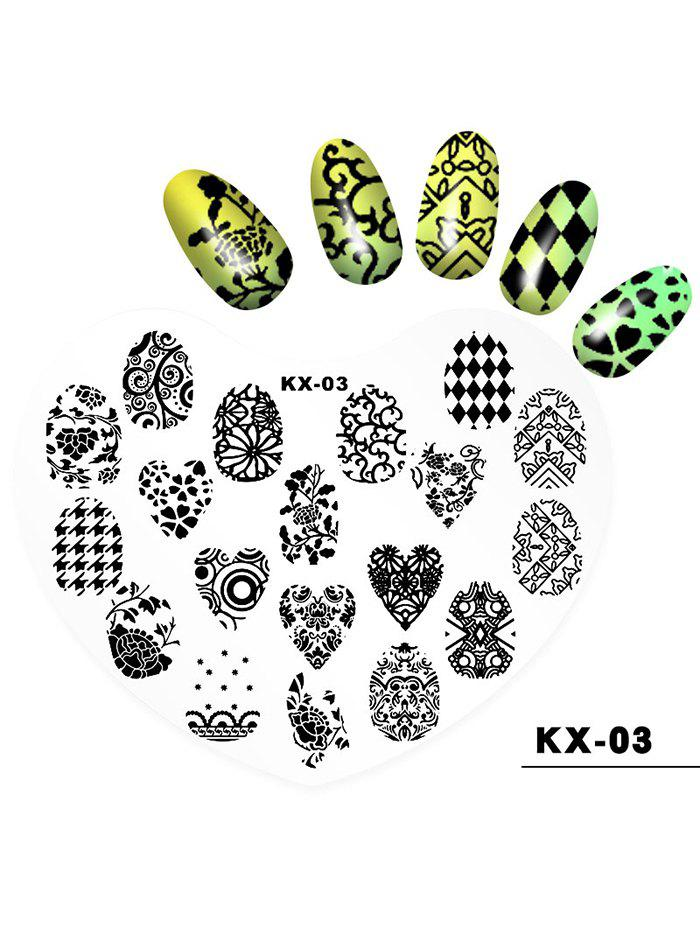 Cheap Beauty Nail Art Love Heart Shaped Plastic Nail Painting Pad