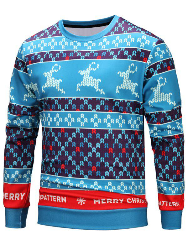 Buy Deer Seamless Pattern Christmas Loose Sweatshirt