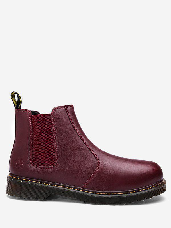 Best Retro PU Leather Slip-on Chelsea Boots