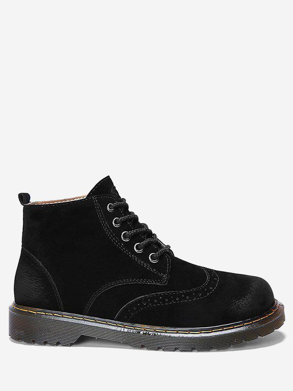 Shops Lace Up Suede Short Wing Tip Boots