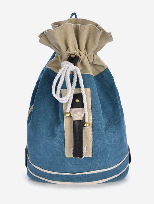 Latest Canvas Color Block String Design Backpack