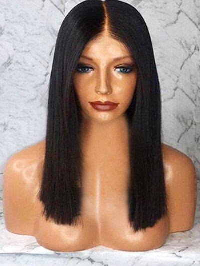 Cheap Medium Synthetic Center Parting Straight Wig