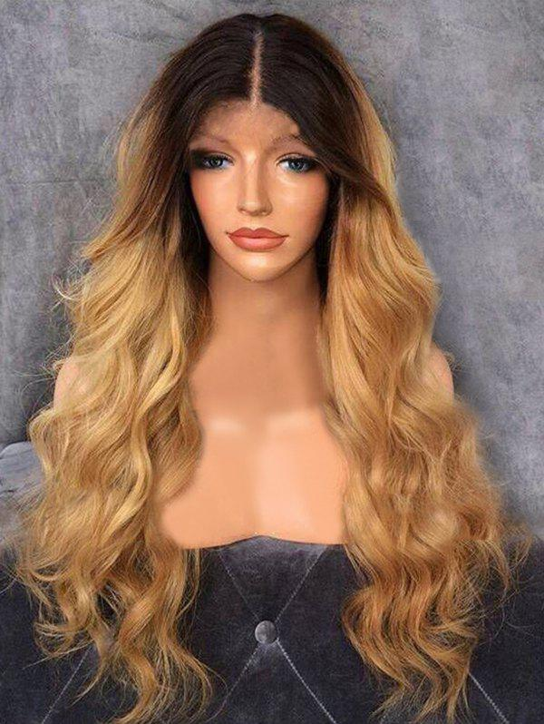 Sale Long Middle Part Capless Ombre Wavy Synthetic Wig