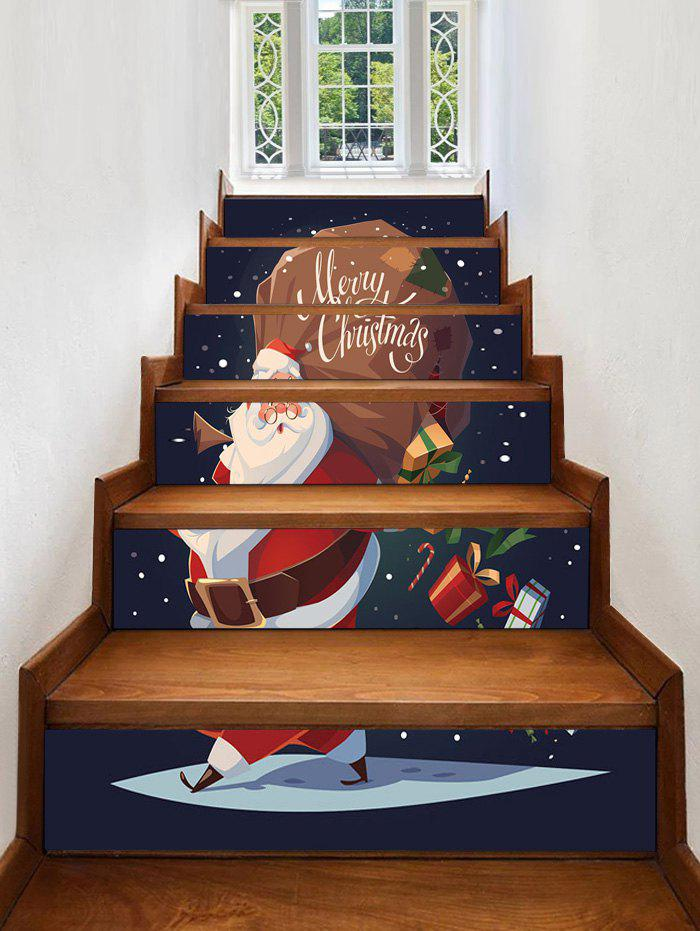 Best Christmas Santa Claus Pattern Decorative Stair Stickers
