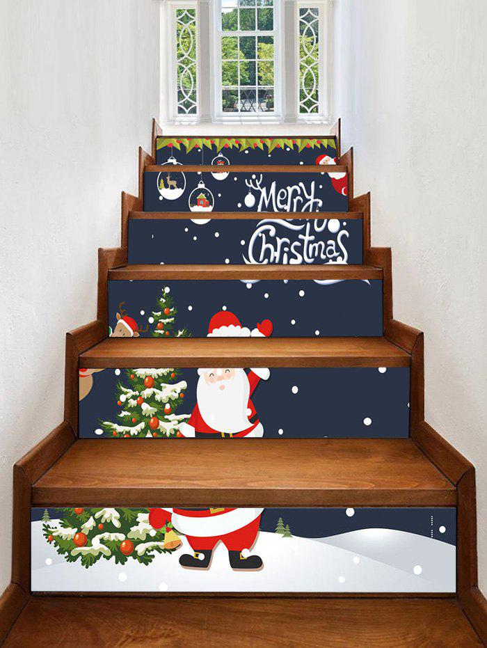 Shop Merry Christmas Pattern Decorative Stair Stickers