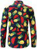 Button Up Watermelon and  Pineapple Print Shirt -