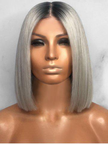 Short Center Parting Ombre Straight Bob Synthetic Wig