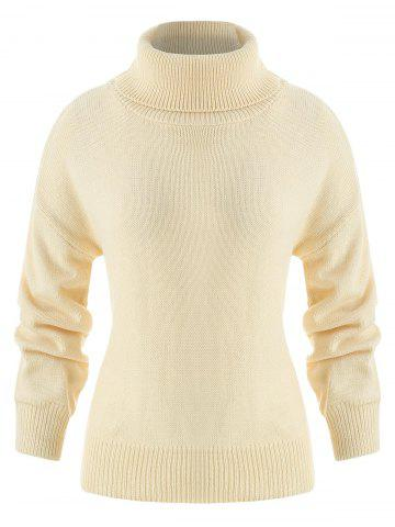 Drop Shoulder Turtleneck Sweater