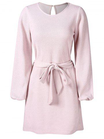 Full Sleeve Tie Waist Dress