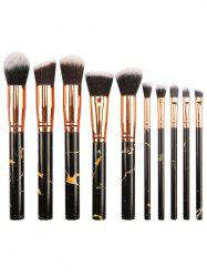 10Pcs Fiber Hair Foundation Blush Contour Brush Suit -