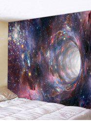 Wall Hanging Art Galaxy Hole Print Tapestry -