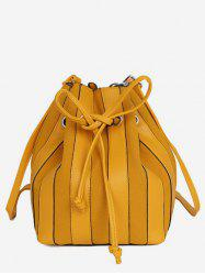 String Design Striped Bucket  Bag -